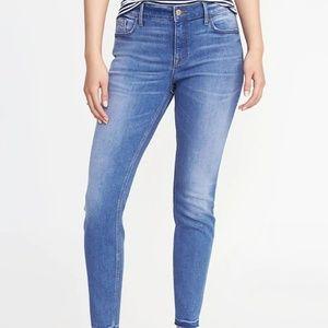 Denim - Petite Mid-Rise Raw-Edge Jeans